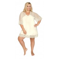 Женская  ночная сорочка 503 зкрю