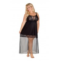 Сорочка женская с кружевами 537 черный