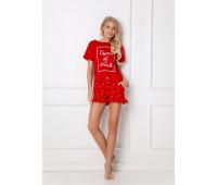 Пижама с шортами HEARTY RED