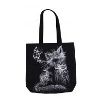 Сумка-шоппер черная кошка