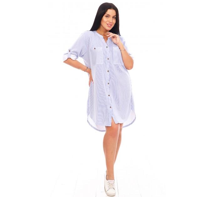 Туника-рубашка с укороченным рукавом