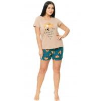 Женская пижама с шортами К-537Ш