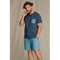 Пижама мужская с шортами MNS 349 A21