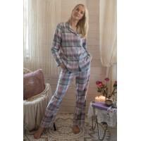 Женская фланелевая пижама с брюками/ Комплект домашний женский LNS 423 B21