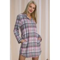 Фланелевая сорочка рубашка / Теплое домашнее платье - рубашка