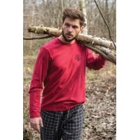 Мужская фланелевая пижама со штанами MNS 432 B21