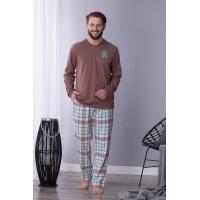 Мужская фланелевая пижама со штанами MNS 450 B21