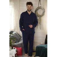 Мужская фланелевая пижама со штанами MNS 458 B21