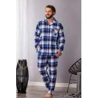 Теплая мужская пижама со штанами  498