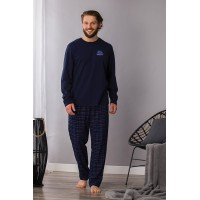 Мужская фланелевая пижама со штанами MNS 745 2