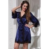 Короткий халат Mia-Amore из шелка ISABELLA 3183