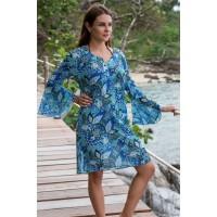 Короткая пляжная туникаMia-Amoreс длинным рукавом FELINA 8261