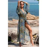 Длинный пляжный халатMia-Amoreс рукавами 8823