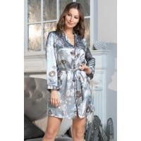 Удлиненная сорочка-рубашкаMia-Amore из атласа PARIS_PIONS 8997