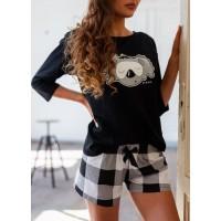 Пижама женская с шортами FLUFFY